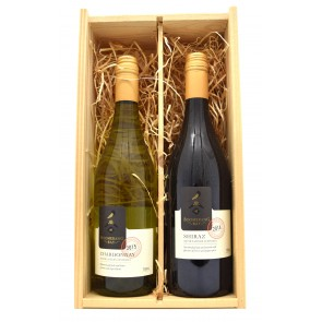 Wijnkist Boomerang Bay - Shiraz en Chardonnay
