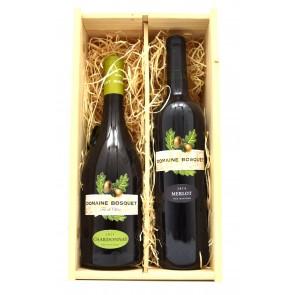 Wijnkist Domaine du Bosquet - Chardonnay en Merlot
