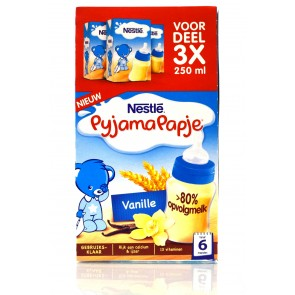 Nestlé - Pyamapapje vanille gebruiksklaar flessenpap