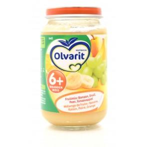 Olvarit - Babyvoeding 6+ Banaan Druif Peer Sinaasappel
