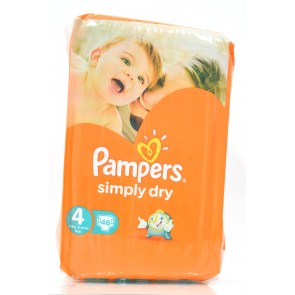 Pampers - Simply Dry 4 7-18kg Maxi