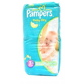 Pampers - Baby Dry 3+ 5-10kg Midi Plus
