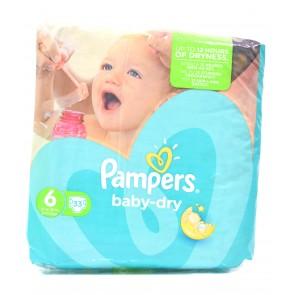 Pampers - Baby Dry 6 >15kg Extra Large