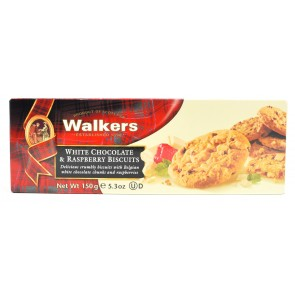 Walkers - White Chocolate & Raspberry Biscuits